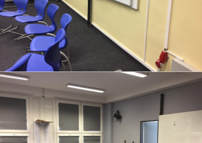 Gymnázium PORG, Praha 4 - rekonstrukce divadelní části - původní a nový stav